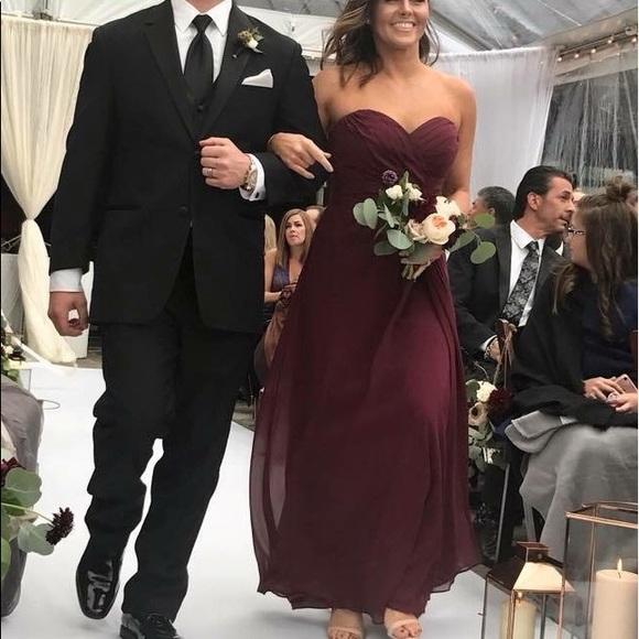 53aee34938 Bill Levkoff Dresses   Skirts - Bill Levkoff Bridesmaid Dress Wine 978